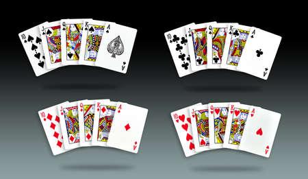 royal flush: Royal Straight Flush for poker