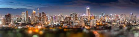 silom: Twilight silom bangkok city panorama