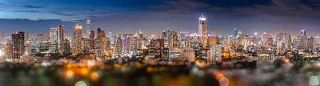 silom: Twilight silom bangkok city panorama