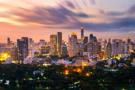 bangkok city skyline downtown 免版税图像