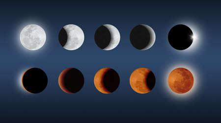 lunar eclipse: lunar eclipse creative Stock Photo