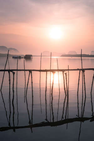 phangnga: sunrise woodbridge fishing village Phangnga