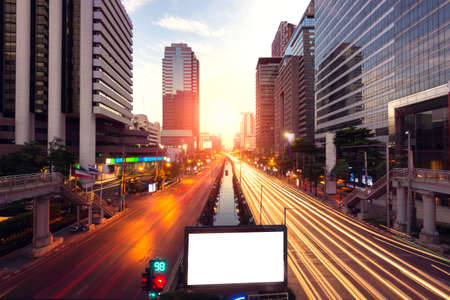 capital cities: sunlight and road in capital cities Stock Photo