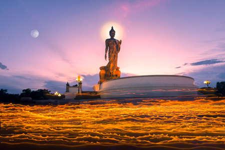 nakhon pathom: visakha bucha day Phutthamonthon nakhon pathom thailand