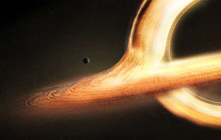 gargantua galaxy design Stock Photo