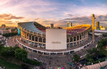 Rajamangala Stadium, World Cup Thailand always found Iraq 2-2 September 8, 2015. 免版税图像 - 44997471
