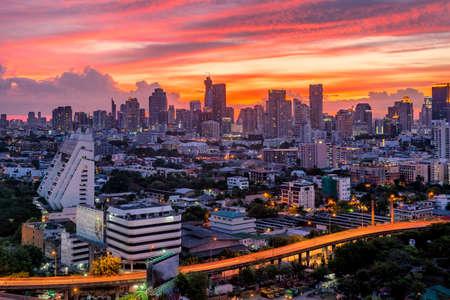 beautifull: sunset bangkok beautifull sky Stock Photo