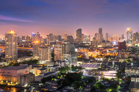Bangkok city night time