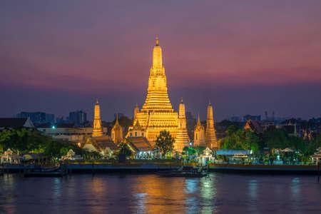 Wat Arun Landmark Tailandia Foto de archivo