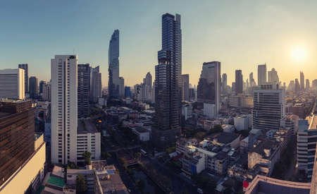 top view on top roof skyline bangkok capital city in asia Stock Photo