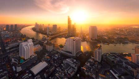 Chao Phraya River sunlight bangkok city