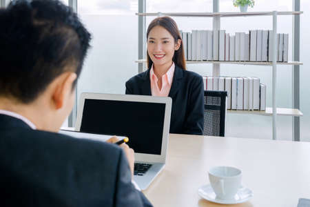 women job interviewed In the office of a company asia bangkok