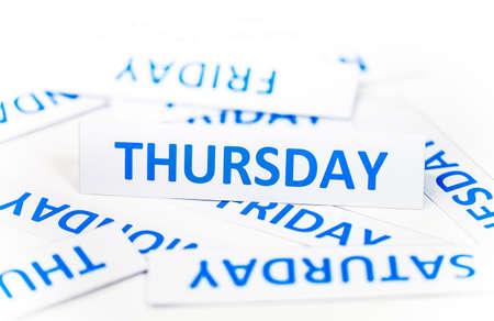 thursday: Thursday word texture