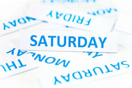 saturday: Saturday word texture