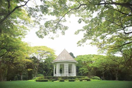 Band stand landmark at Singapore Botanic Garden