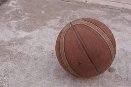 an old basketball