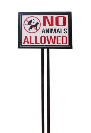 no animal allowed sign photo