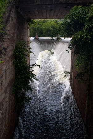 weir: Small weir and Drainage tunnel, Chiangmai university, Chiangmai,Thailand
