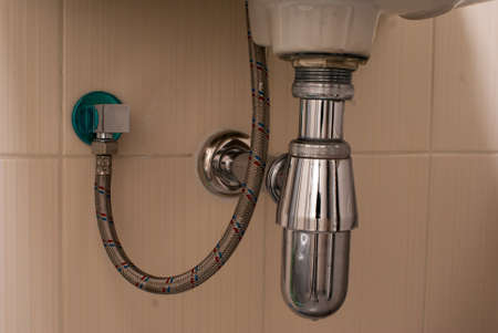 junction pipe: basin drainer in the bathroom