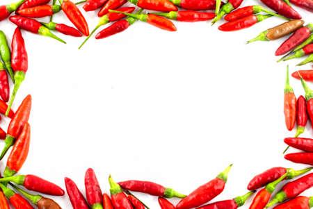 Fresh red pepper border