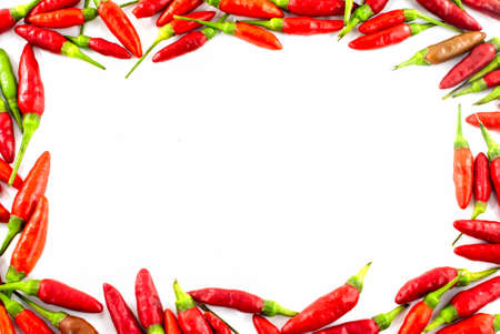 thai pepper: Fresh red pepper border
