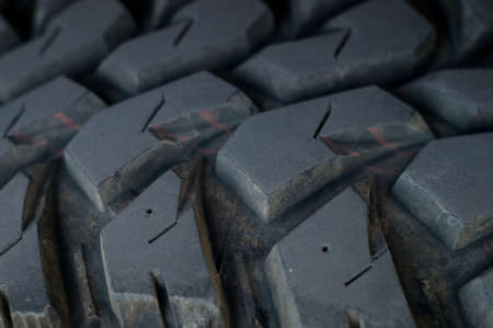 Close up of a car tire photo