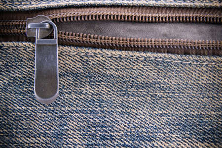 Jeans texture with zipper background