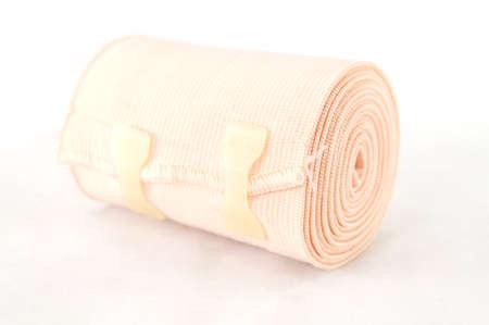 immobilize: Medical bandage roll ,Elastic bandage isolated on whtie background Stock Photo