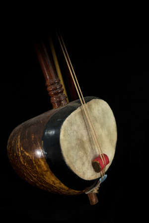 A part of Saw, Thai fiddle bass sounded string music instrument  photo