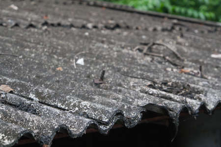 Old and dirty wavy roof photo