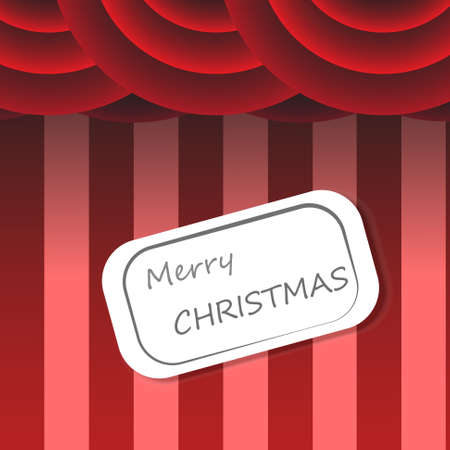 Vector : XMas card on circus background Vector