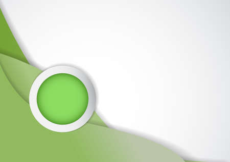 topic: Vector : Circle for topic and green background Illustration