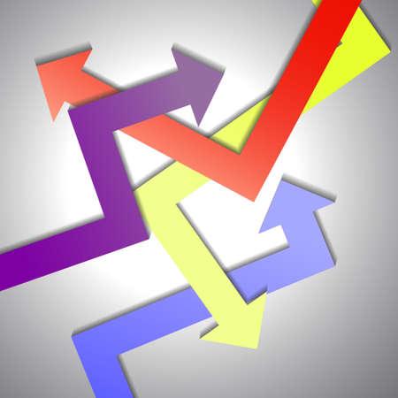 groviglio: Vettore: Groviglio freccia sfondo Vettoriali