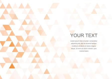 Vector : Orange triangles texture background