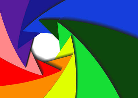 Vector : Abstract background with color wheel aperture