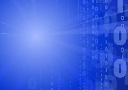 Vector : Matric binary code computer background