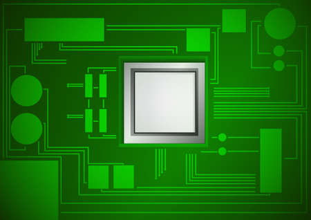 electronic circuit: Vector : Electronic circuit board background