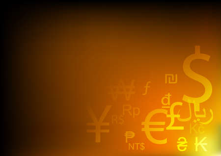 Vector : Abstract currency symbols background Illustration