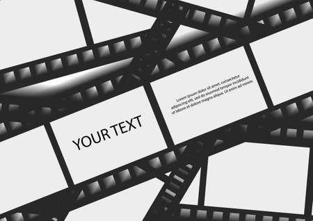 벡터 : 필름 배경 및 텍스트 공간 일러스트