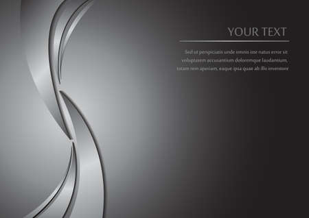 chrome metal: Vector : Abstract metal curve background