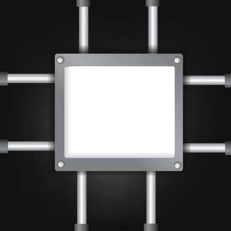 hydraulic: Vector : Empty board and hydraulic bar Illustration