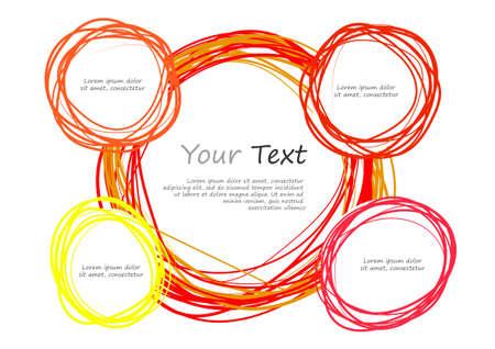 for text: Vettore: cerchio Doodle e lo spazio per il testo Vettoriali