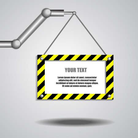 bras robot: Vecteur: bras de robot et plateau vide pour le texte
