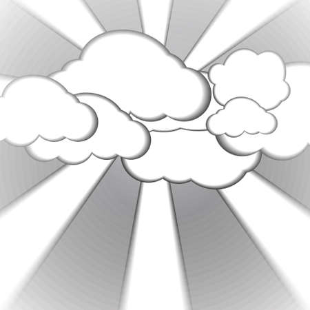 style background: Vector : Cloud and foggy paper style background