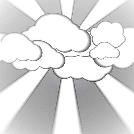 misty forest: Vector: Nube y fondo del estilo del papel de niebla