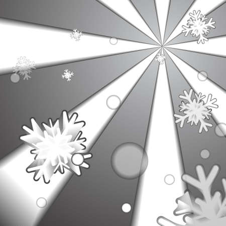 ice crystal: Vector : Ice crystal and snow paper style background Illustration
