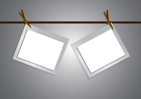 Vector : Empty Frame And Clothespin On Rope Royalty Free Cliparts ...