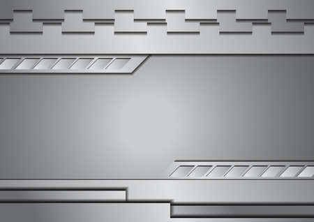 Vector : Silver metal abstract background