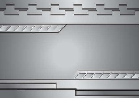 Vector: Zilver metaal achtergrond