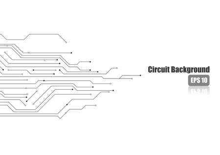 Electronic circuit on white background 矢量图像